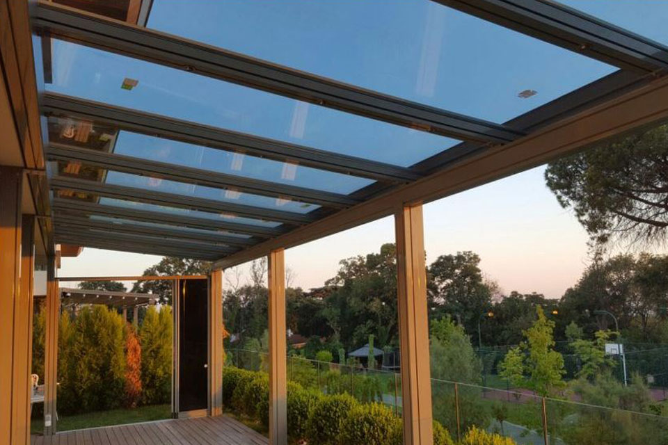 Insulated Single Glass Roof System Pergola Technical